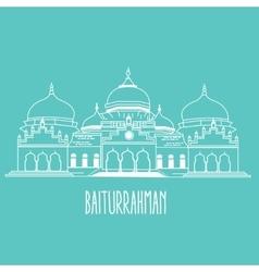 Baiturrahman mosque islam historic building vector