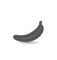 banana fruit icon simple flat style vector image