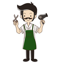 Barber man vector