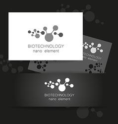 biotechnology logo vector image