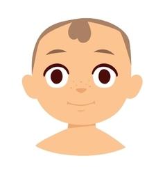 Boy smile face vector