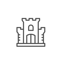 castle line icon vector image