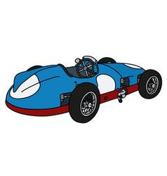 Classic blue racing car vector