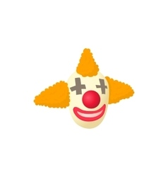 Clown icon in cartoon style vector image