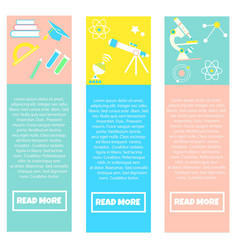 collection colorful banners back to school vector image