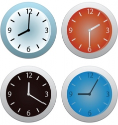 Collection of clocks vector