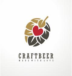 craft beer logo design layout vector image