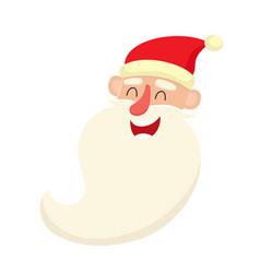 cute santa claus smiling facial expression vector image