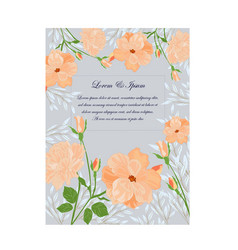 Cute sweet orange pink and blue wild floral vector