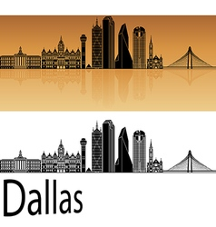 Dallas skyline in orange vector image