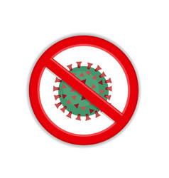 dangerous virus in forbidden sign vector image