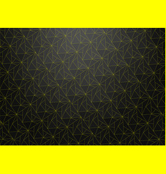 Dark abstract background with yellow neon lines vector
