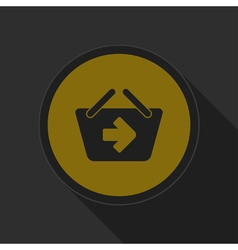 Dark gray and yellow icon - shopping basket next vector