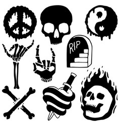death and skull vector image