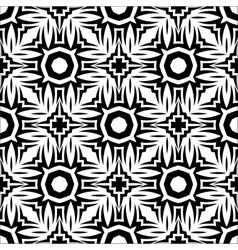 Decorative Retro Black White Seamless Pattern vector image