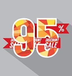 Discount 95 Percent Off vector image
