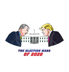Donald trump versus joe biden presidential vector