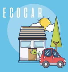 Ecocar green energy vector