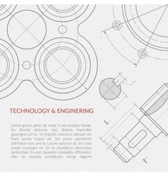 Engineering concept with part of machinery vector