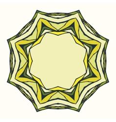 Ethnic round mandala ornamental frame vector image