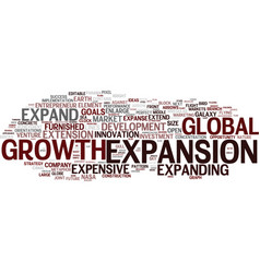 Expansion word cloud concept vector