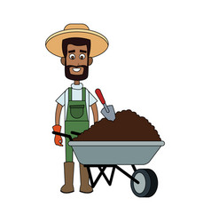 farmer cartoon icon image vector image