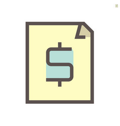 financial document icon design 48x48 pixel vector image