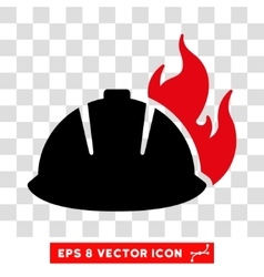 Fire helmet eps icon vector