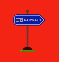 flat icon on background car wash sign vector image