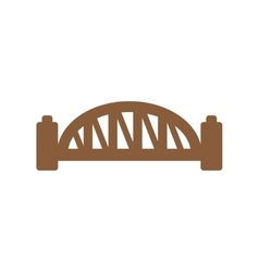 Flat icon on white background sydney harbour vector