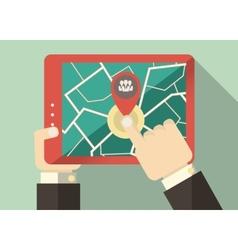 Flat Tablet User vector image