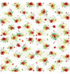 floral poppies background vector image
