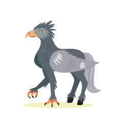 Funny cute hippogriff in a flat style vector