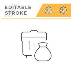 garbage line icon vector image