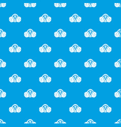 Gas mask pattern seamless blue vector