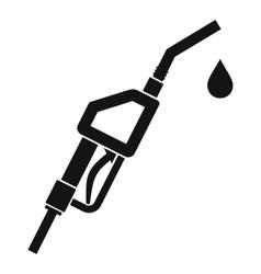 Gasoline pump nozzle icon simple style vector