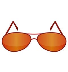 Glasses red 1 v vector