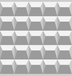 gray seamless pattern with triangles and trapezes vector image