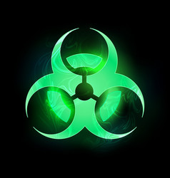 green biohazard symbol vector image