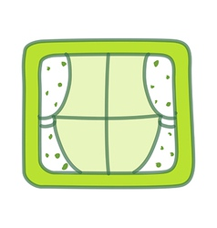 Green Window vector
