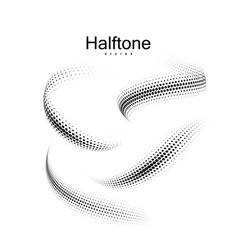 halfton 3d shapes collection vector image