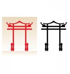 japan gate vector image