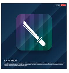 Katana sword icon vector
