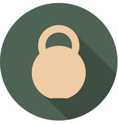 kettlebell circle icon vector image