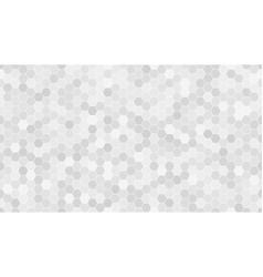 light gray hexagonal mosaic background vector image