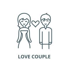 love couple line icon linear concept vector image