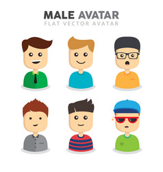 Male avatars vector