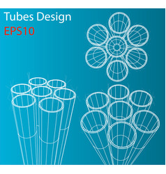 manufacture and trade of metal pipes vector image