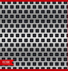 metal background with tiles pattern vector image