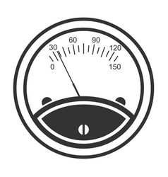 meter icon speedometer instrument for indicating vector image